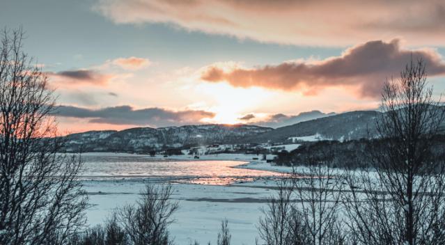 Norway sunset coast