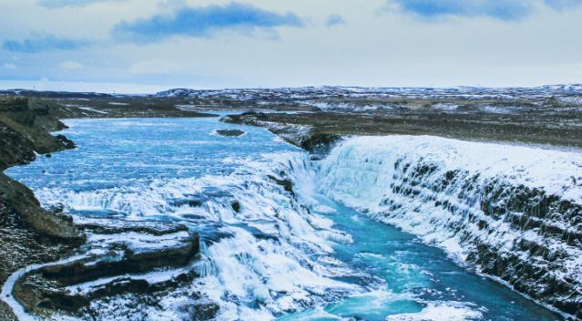 Gullfoss waterfall iceland golden circle tour
